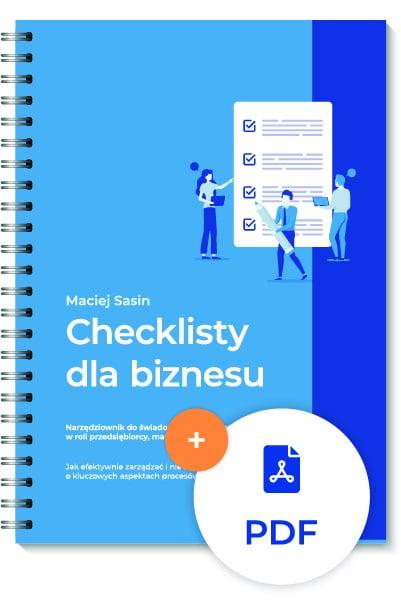 """Narzędziownik """"Checklisty dla biznesu"""" Maciej Sasin – DRUK + E-BOOK"""